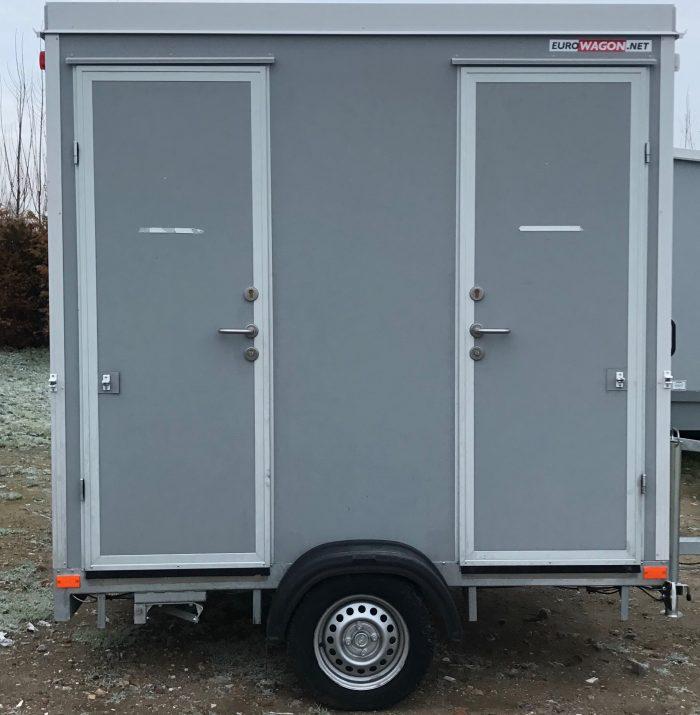 Mini toiletwagen buitenkant